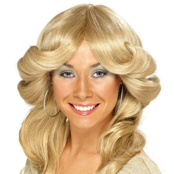 70s Flick Wig - One Size Womens Blonde