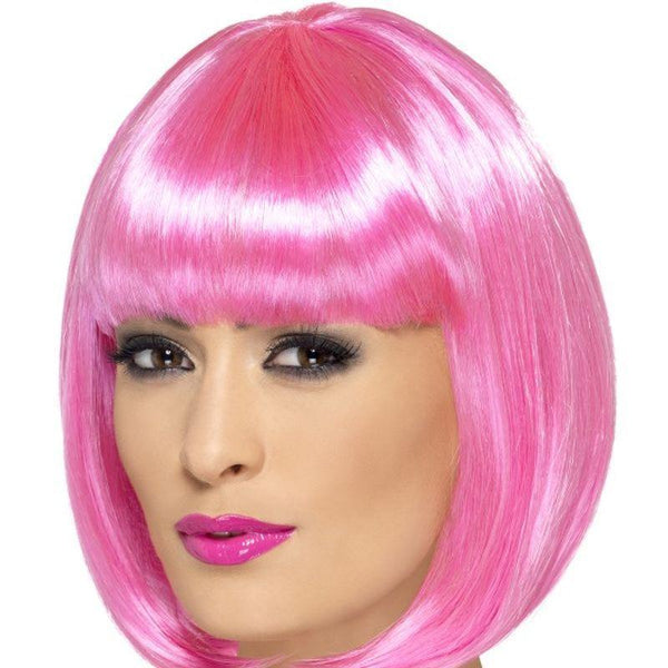 Partyrama Wig, 12 inch - One Size Womens Pink