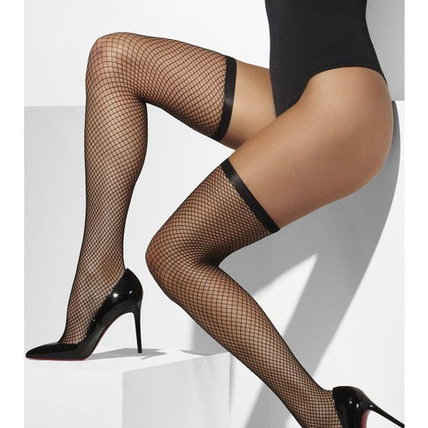 Lattice Net Hold-Ups - One Size Womens Black