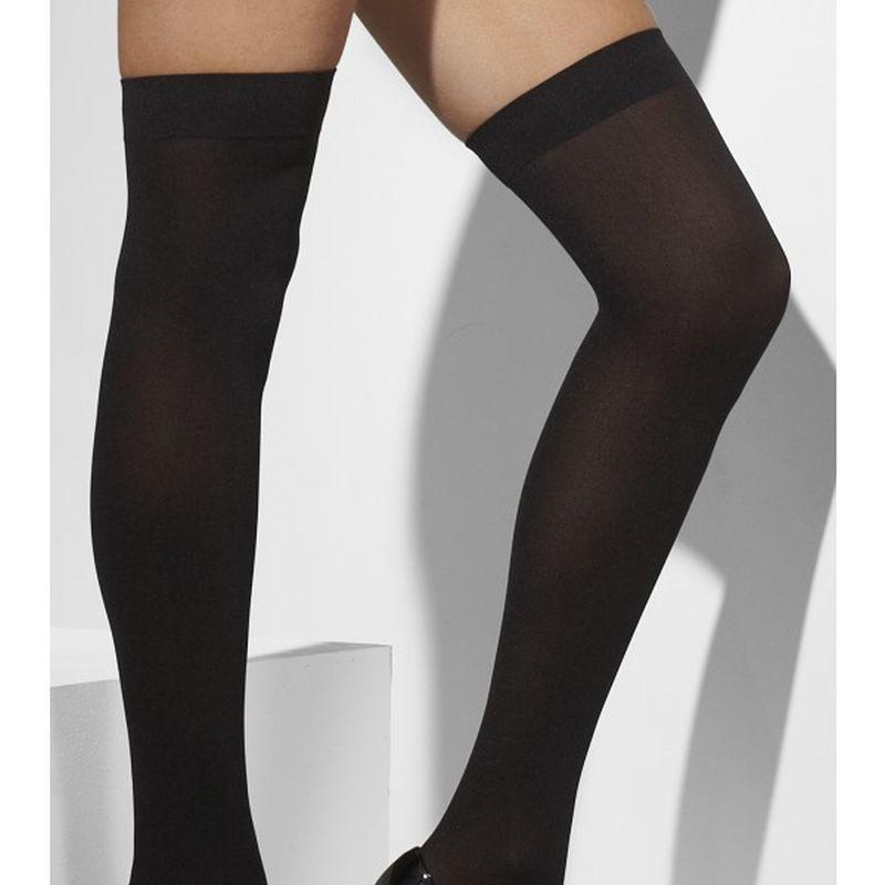 Opaque Hold-Ups - One Size Womens Black