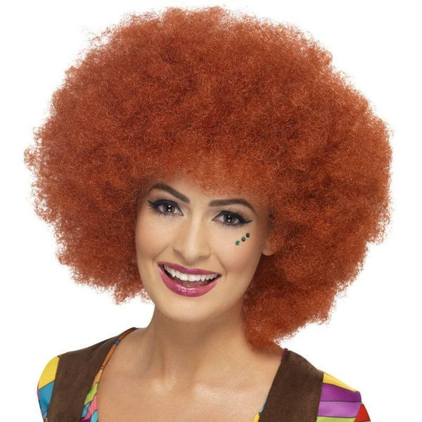 60s Afro Wig - One Size Womens Red