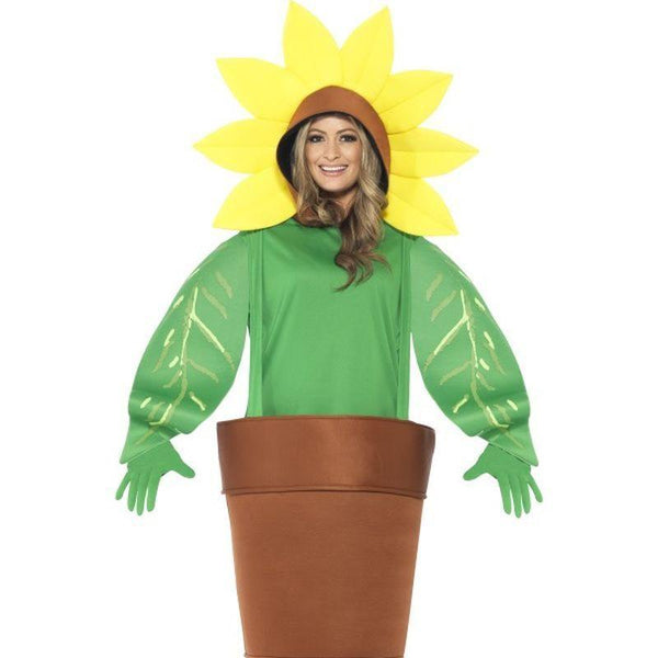 Sunflower Costume, With Top With Attached Hood - One Size