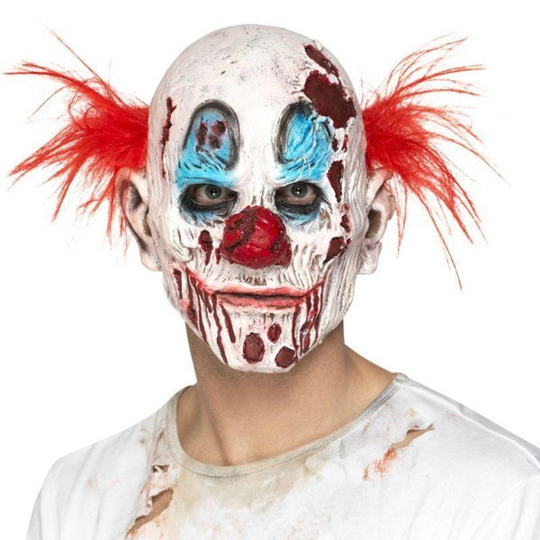 Zombie Clown Mask, Foam Latex - One Size