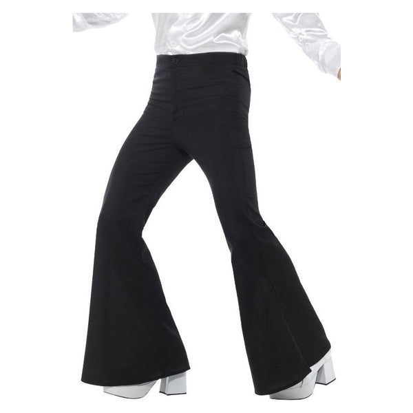 Flared Trousers Mens Adult Black