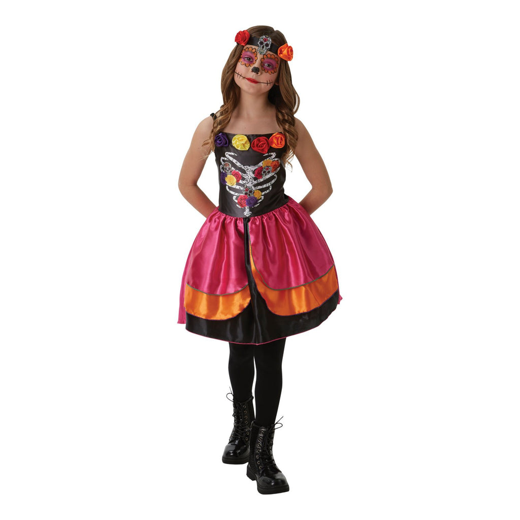 Sugar Skull Day Of The Dead Costume, Child