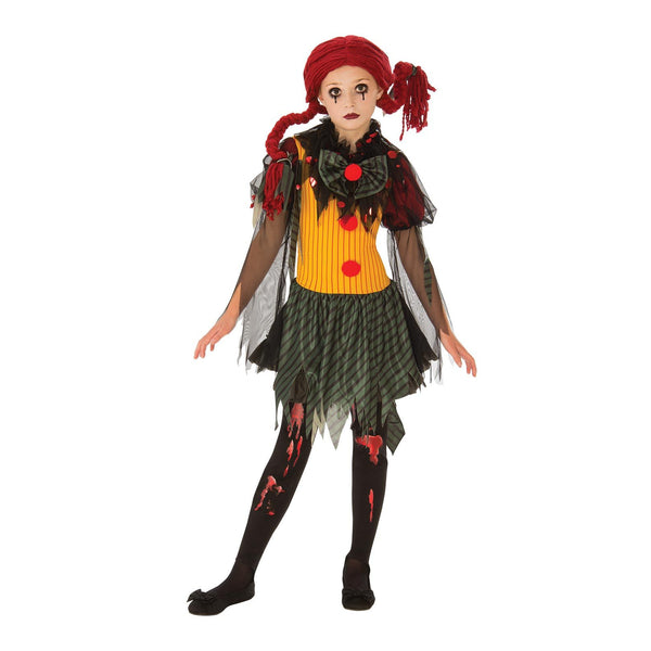 Zombie Girl Clown Costume Child