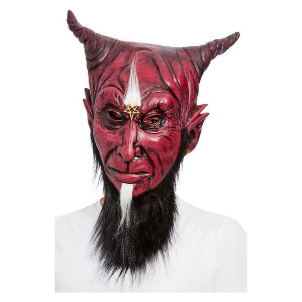 Bearded Satanic Devil Overhead Mask, Latex