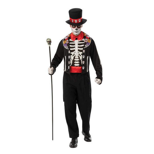 Day Of The Dead Man Costume, Adult