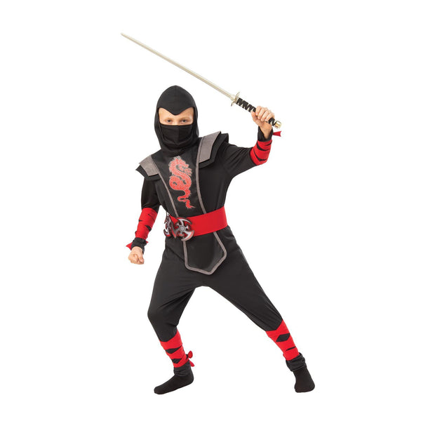 Red Ninja Boy Costume Child