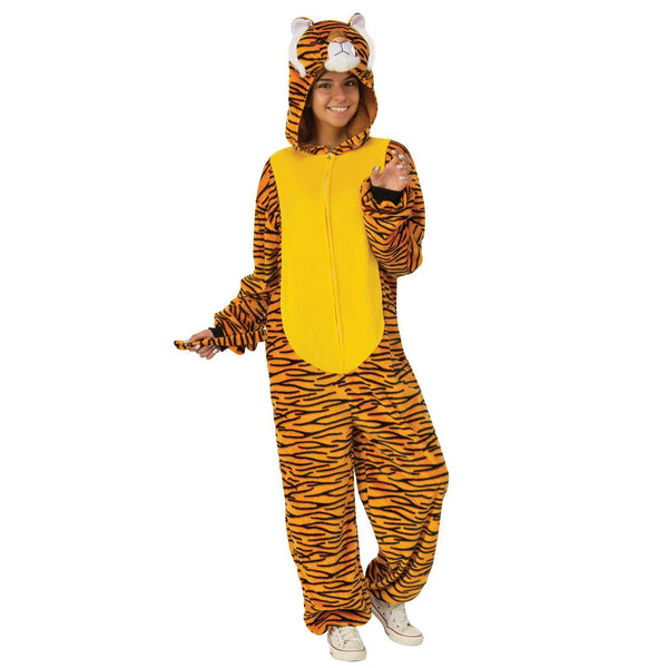 Tiger Furry Onesie Costume Adult