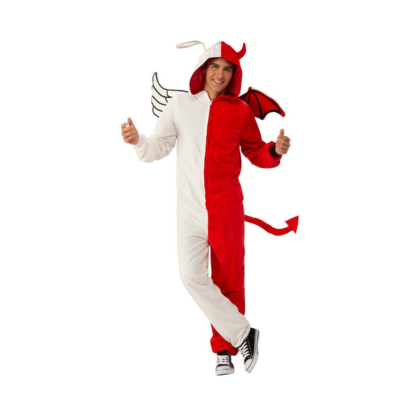 Angel Or Demon Furry Onesie Costume Adult