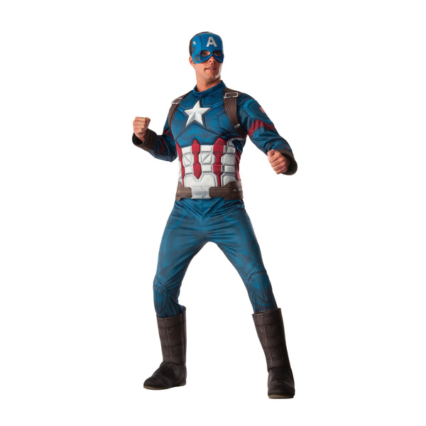 Captain America Deluxe Costume, Adult