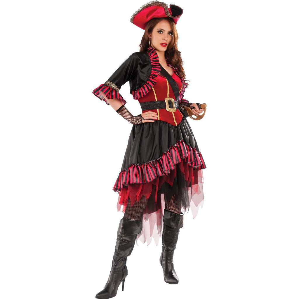 Lady Buccaneer Pirate Costume, Adult
