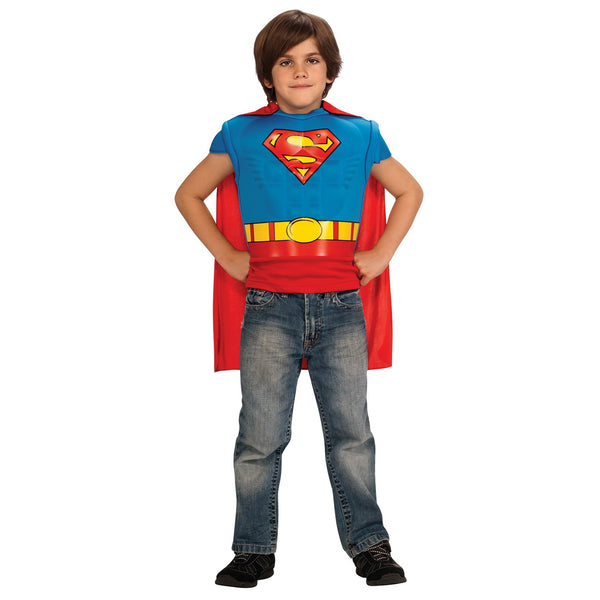 Superman Muscle Chest Costume Top Child