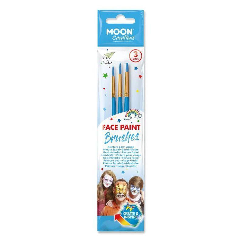 Moon Creations Face Paint Brushes, Blue
