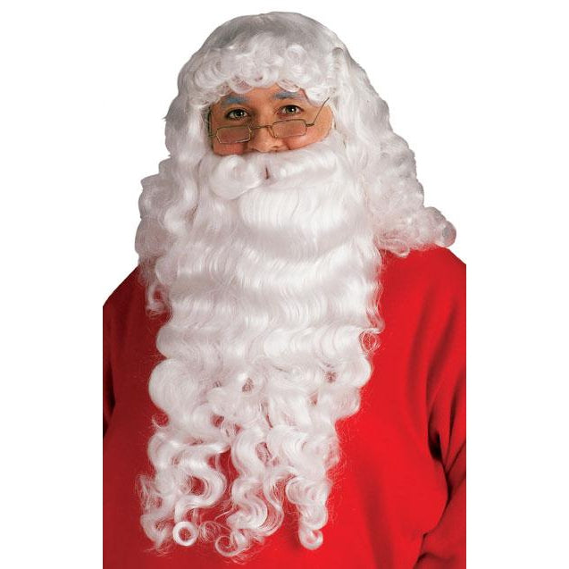 Santa Beard & Wig Set - Plush