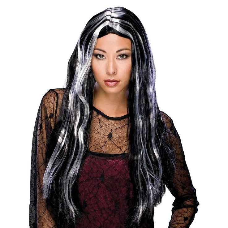 Witch Grey Streaked Wig Adult
