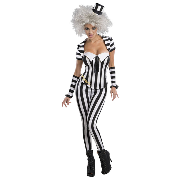 Beetlejuice Secret Wishes Blk/wht Corset