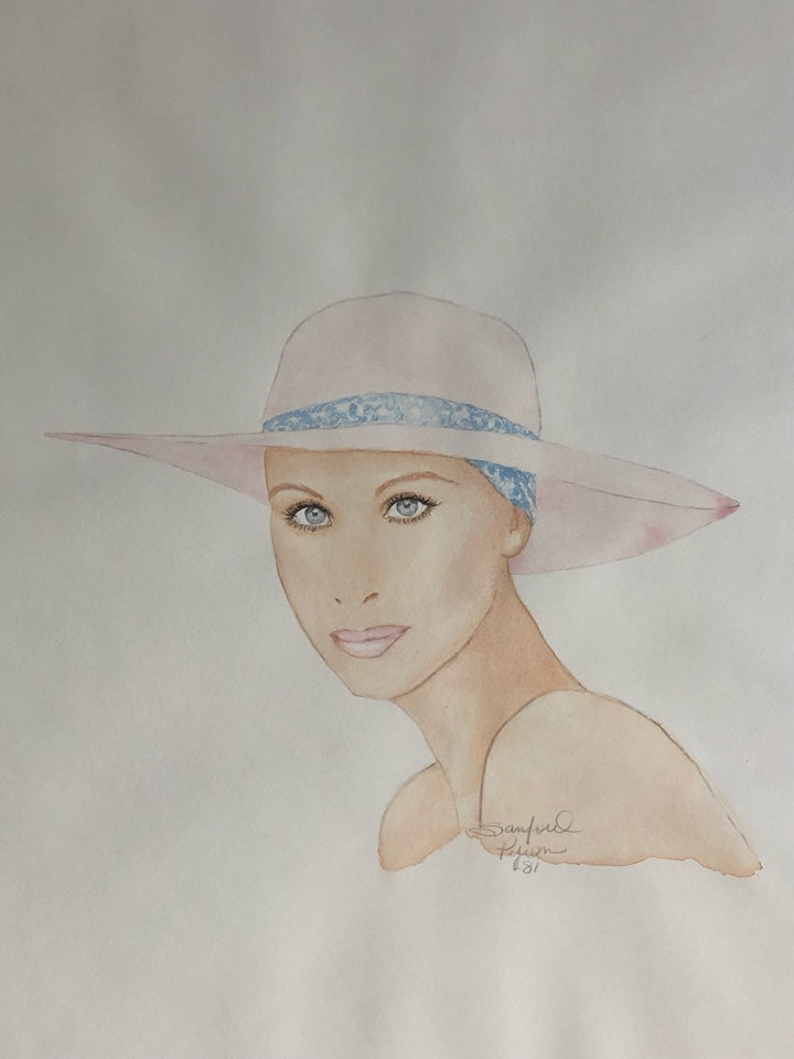 Portrait of Barbara Streisand on Paper, 16
