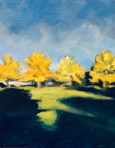 "Black Ash Trees #3, Hanson Idaho, 8""x10"""