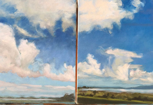 Humboldt Bay Clouds #2 & #3,  two separate 9