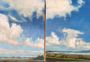 "Humboldt Bay Clouds #2 & #3,  two separate 9""x12"" sold together"