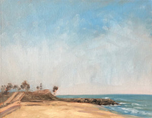 "Oceanside Beach on the PCH, 11""x 14"""