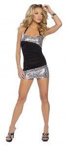 Sequin Halter Dress