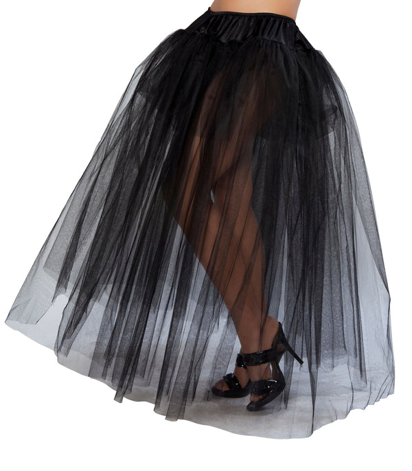 RM10039 Black Full Length Petticoat