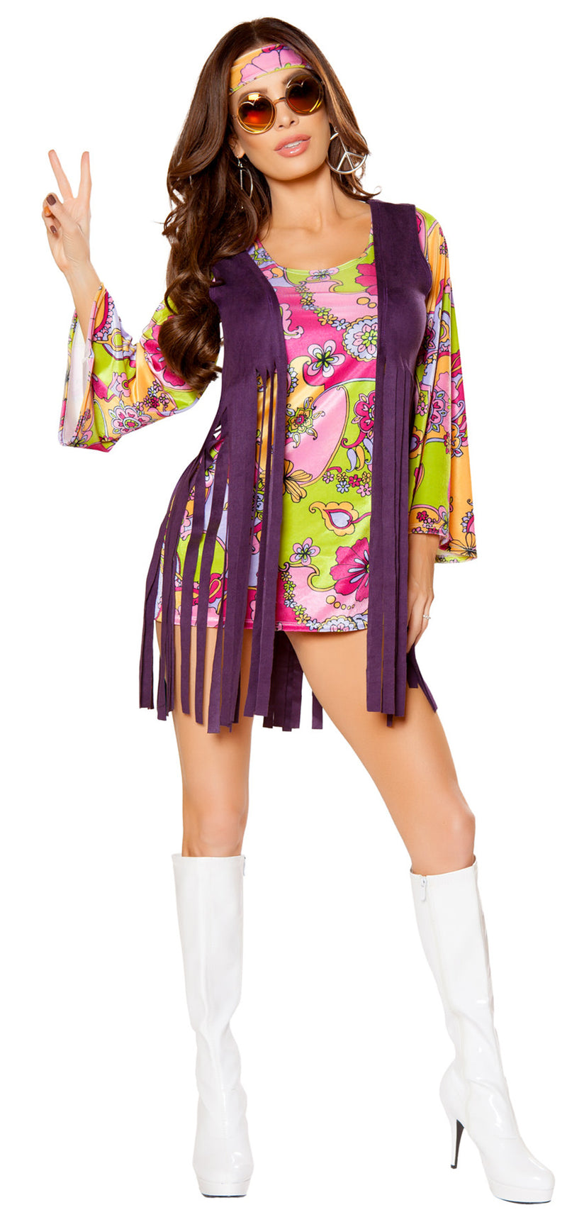 RM-10083 Groovy Hippie Costume Front