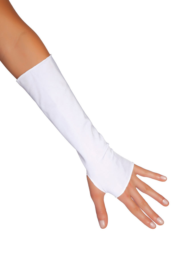 Lycra Fingerless Gloves RM128l white