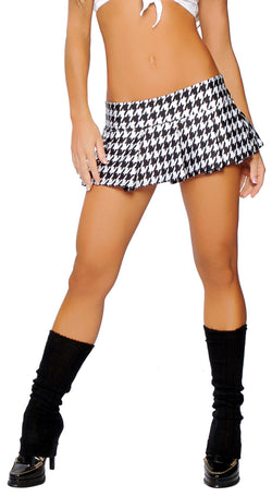 RM1303H Pleated Houndstooth Skirt  main