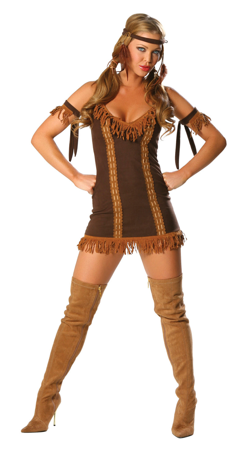 Indian Princess Costume Brown Front RM1439