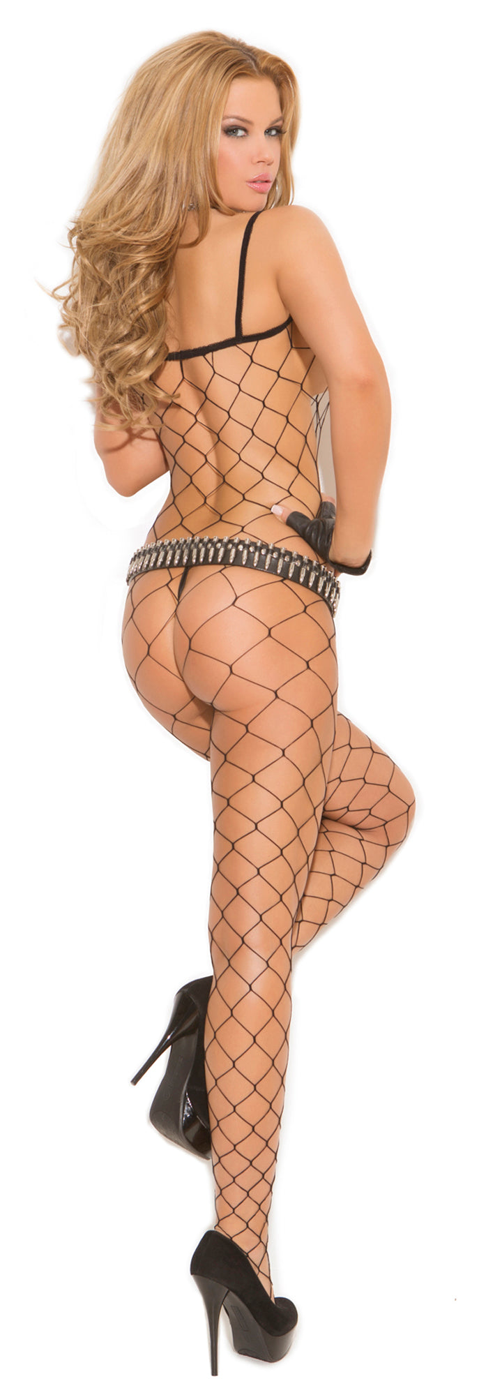 Diamond Fishnet Bodystocking black back EM-1622