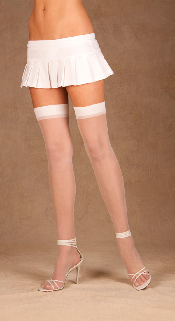 Sheer Thigh High Stockings Front EM1725