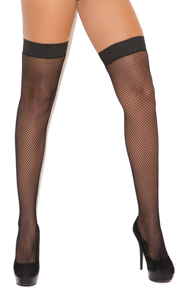 Silicone Top Fishnet Thigh Highs EM1748