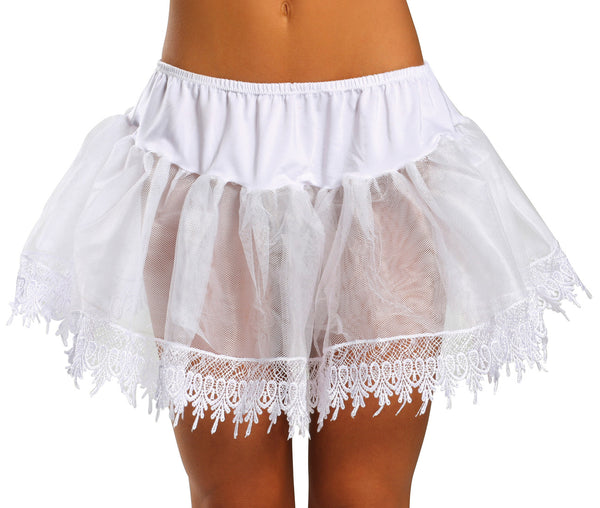 Tear Drop Petticoat White Front RM2210
