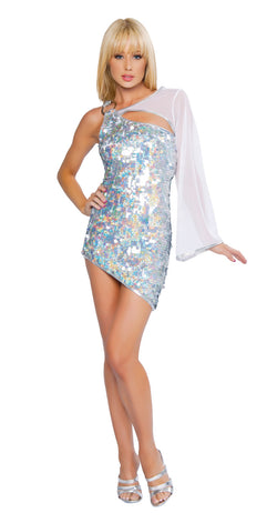 Cutout Sequin Dress clubwear