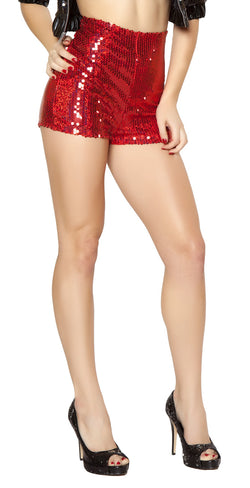 High Waisted Shorts Red RM2972
