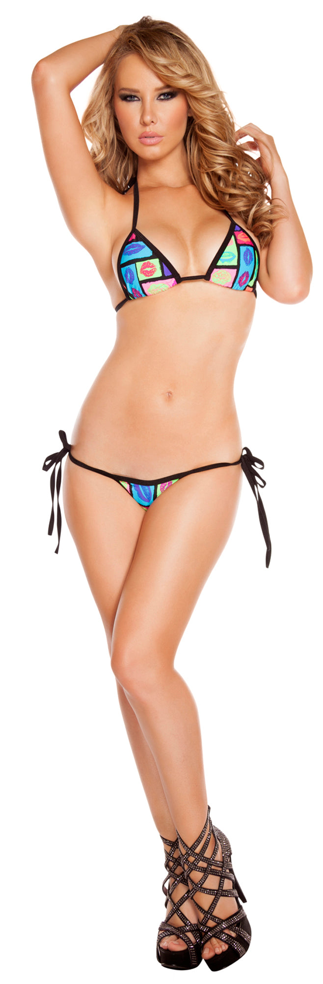Low Rise Bikini Set RM-3200 Front lips