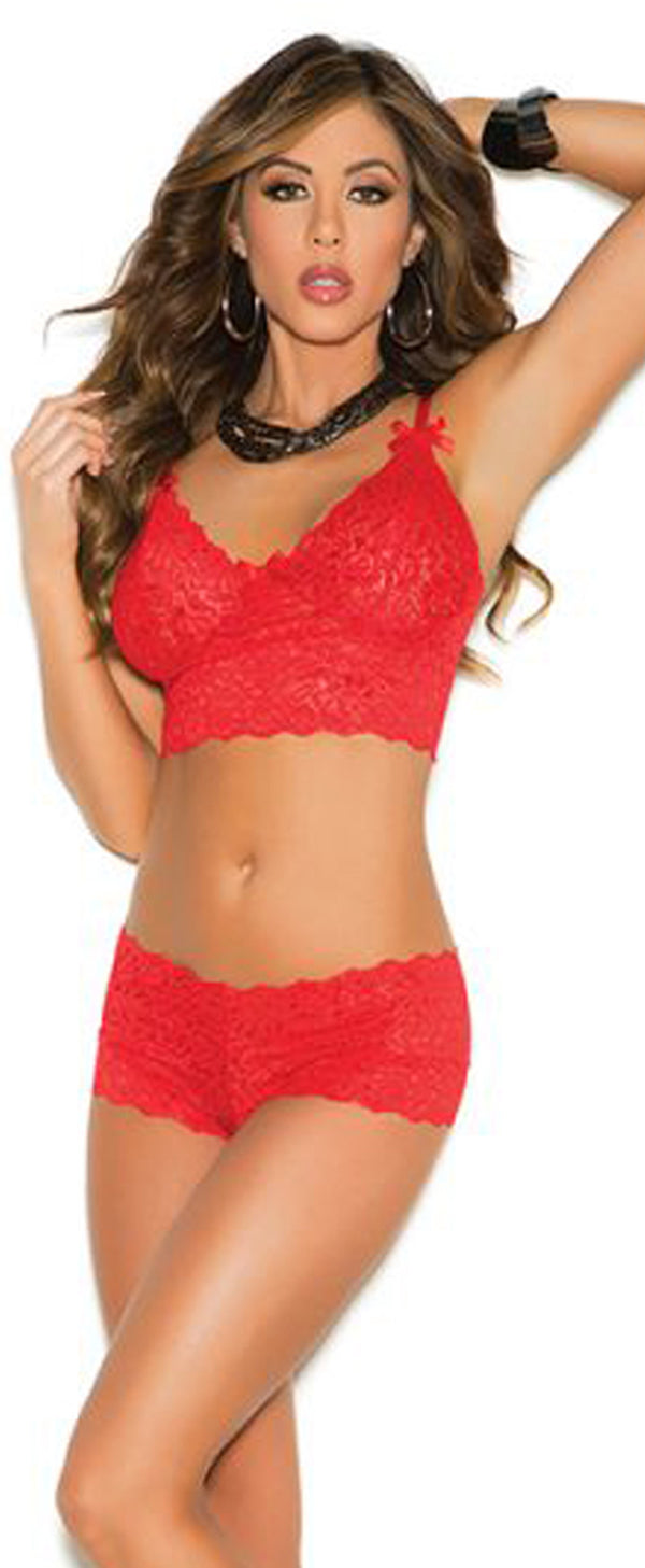 Camisole and Shorts EM3229 red Front Main