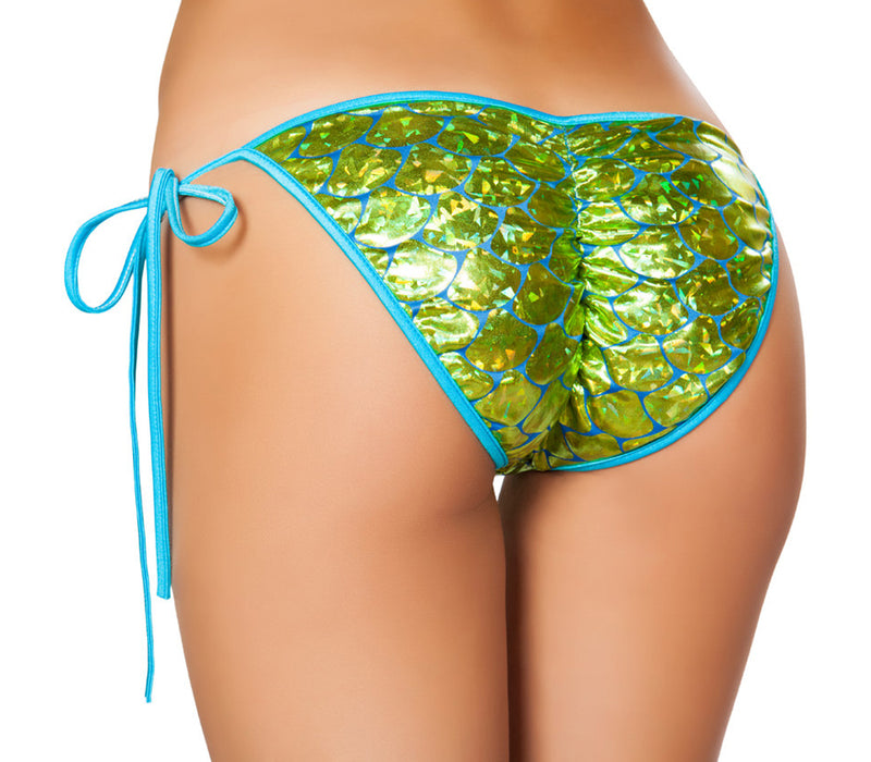 RM-3328 Mermaid Tie Side Bikini Bottom Back Lime