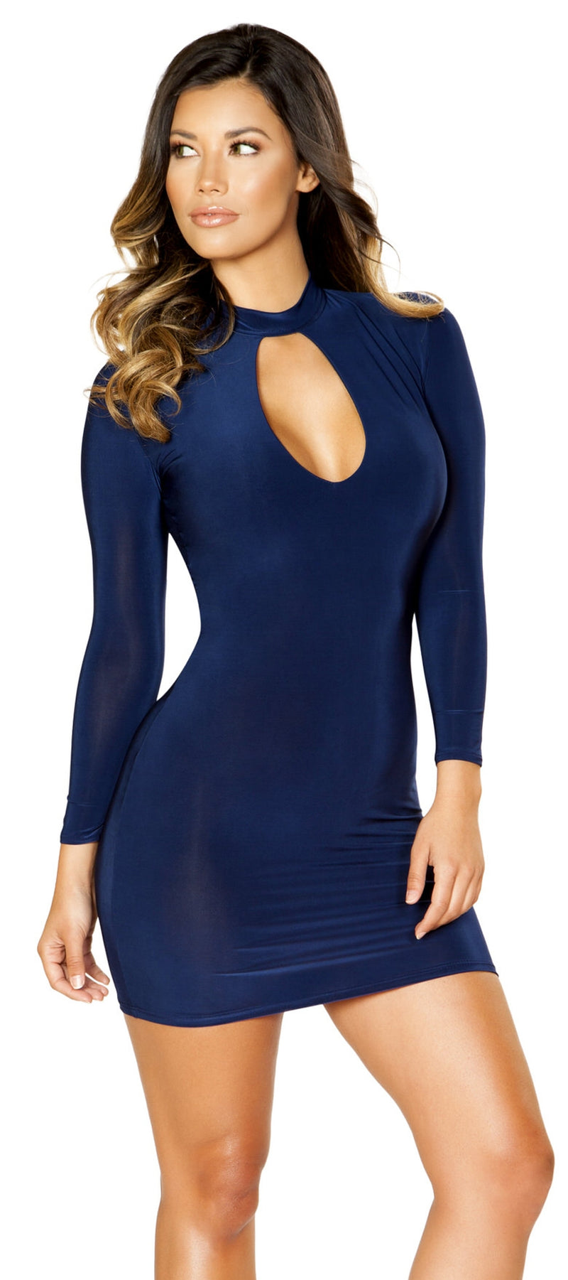 RM-3520 Hot and classy high neck long sleeves mini dress main