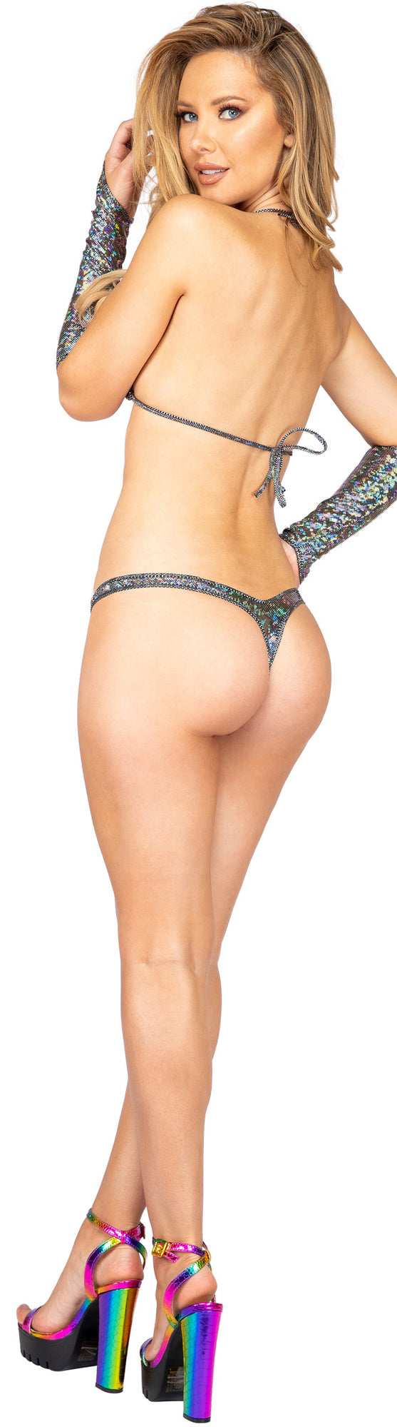 Iridescent Triangle Top and T Back Bottoms