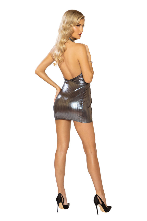 Shimmer Overlapping Dress
