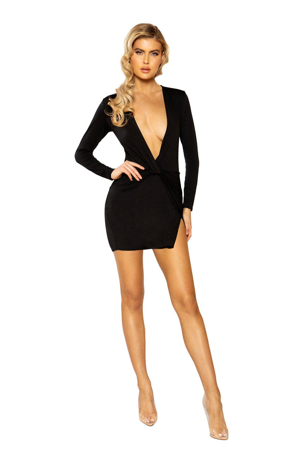 Low Plunge Mini Dress