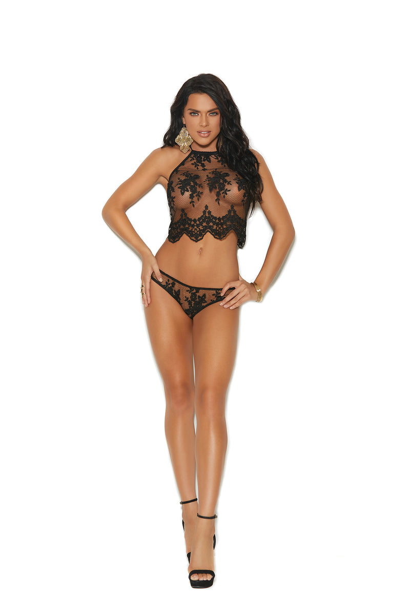 Sheer Lace Cami Set