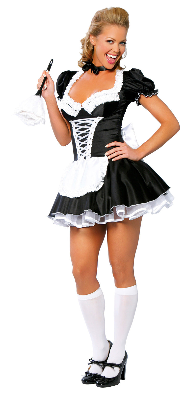 Two Piece Sexy French Maid Black Front RM4026