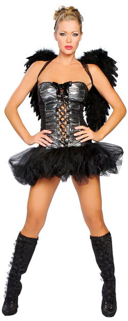 Black Angel Costume Front RM4062