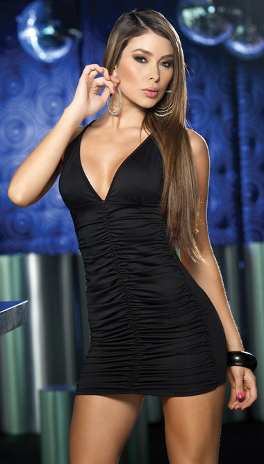 Cinched Front Mini Dress ES4100